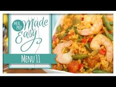 Healthy Meal Prep | Menu 11 | Shrimp Paella, Chilled Gazpacho, Mini Frittatas - YouTube