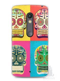 Capa Capinha Moto X Play Caveiras Coloridas - SmartCases - Acessórios para celulares e tablets :)