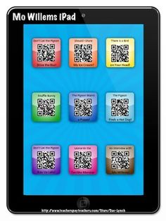 Robert Munsch iPad/iPod Listening Center~Students scan the QR Code and have a story read to them!, 50 Below Zero, Stephanie& Ponytail to name a few silly stories by Robert Munsch. Reading Fluency, Kindergarten Reading, Teaching Reading, Learning, Teaching Ideas, Teaching Technology, Educational Technology, Daily 5, Listening Station