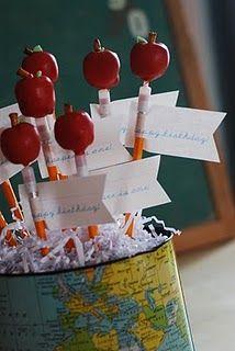 Apple Pencil Cake Pops