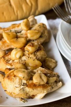 Slow Cooker Garlic Rosemary Chicken! Easy Crock Pot Chicken Recipe!