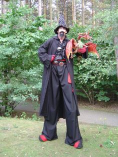 Wizard on Stilts  from www.FlamingFun.com:  Call 07788732552 for more info.