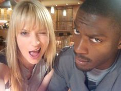 Harker (Hardison and Parker) on Leverage. Definitely one of my fave IR couples on tv!