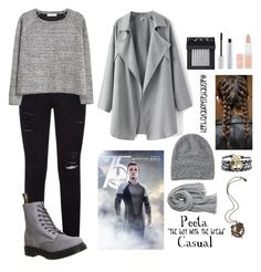 """Peeta Casual"" by disneyfashioneveryday ❤ liked on Polyvore featuring Frame Denim, MANGO, Dr. Martens, T. LeClerc, NARS Cosmetics, Rimmel, Toast and Calypso St. Barth"