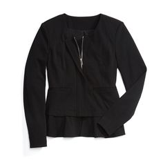 Stitch Fix Monthly Must-Haves: Update your basic blazer with a pre-layered jacket. The slight peplum shape gives your torso an hourglass silhouette.