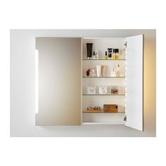 "STORJORM Mirror cabinet w/2 doors & light  - IKEA Product dimensions, $300 but $349 shipping! Width: 39 3/8 "" Depth: 5 1/2 "" Height: 37 3/4 """