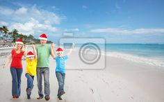 Stock photo of Happy family in tropical ressort. 58503577 - image 58503577