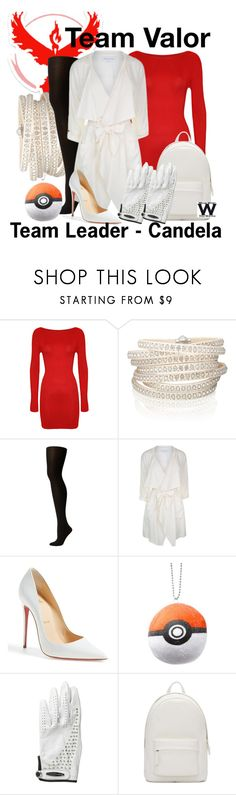 """Pokemon Go - Team Valor"" by wearwhatyouwatch ❤ liked on Polyvore featuring WearAll, Valor, Sif Jakobs Jewellery, SPANX, Patrizia Pepe, Christian Louboutin, Jamie Sadock, PB 0110, wearwhatyouwatch and nintendo"