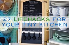 27 life hacks for your tiny kitchen  I NEED TO DO SO MANY OF | http://kitchendesignsaz.blogspot.com