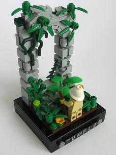 Kjw010 found a lost temple. Legos, Bloc Lego, Custom Lego Sets, Lego Village, Lego Creative, Lego Activities, Lego Craft, Lego Builder, Lego Castle