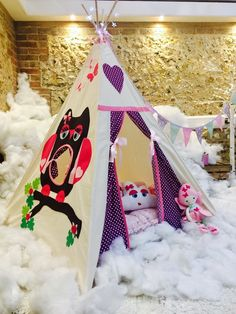 Mrs Owl Magical Teepee Handmade in the UK and CE tested
