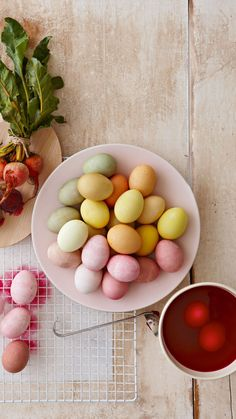 """Better Homes & Gardens on Instagram: """"Creating naturally dyed eggs isn't difficult! These simple recipes call for household ingredients such as fruits and vegetables. Tip: leave…"""" #easter #recipes #food"""