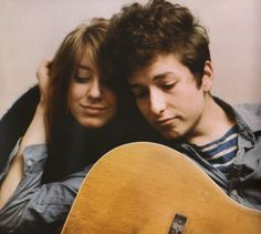 Bob Dylan and Suze Rotolo.  Such a fantastic photo. Just google their names together, the pictures they've taken will warm your heart