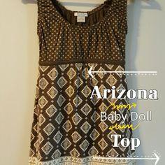 Arizona Baby Doll Top Tank style baby doll top with back tie. Arizona Jean Company Tops Tank Tops