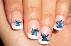 Ideas for nails design disney stitch Disney Acrylic Nails, Bling Acrylic Nails, Simple Acrylic Nails, Best Acrylic Nails, Girls Nail Designs, Cute Nail Designs, Acrylic Nail Designs, Nails For Kids, Girls Nails