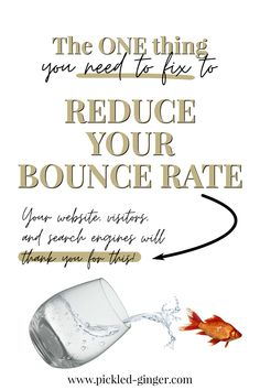 Here's one thing you need to fix to reduce your bounce rate, improve search engine oprimization (SEO) of your website, and enhance the quality of user experience. See what it is and how to deal with it. SEO website tips. How to reduce bounce rate. How to improve bounce rate. Search engine optimization tips. #websitetips #bouncerate  #howtoreducebouncerate #SEOtips #searchengineoptimization #searchengineoptimizationtips Seo Marketing, Digital Marketing Strategy, What Is Search Engine, Bounce Rate, Seo For Beginners, Thing 1, Seo Tips, User Experience, Search Engine Optimization