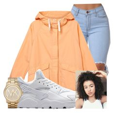 A fashion look from August 2016 featuring parka jacket and Michael Kors. Browse and shop related looks. Casual School Outfits, Basic Outfits, Sexy Outfits, Girl Outfits, Summer Outfits, Cute Outfits, Fashion Outfits, Urban Fashion, Teen Fashion