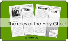 The roles of the Holy Ghost - worksheet Activity Day Girls, Activity Days, Youth Lessons, Lds Conference, Young Women Lessons, Lds Youth, Lds Church, Scripture Study, Holy Ghost