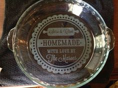Etched Personalized Pyrex 9x13 Glass Baking Dish W Lid
