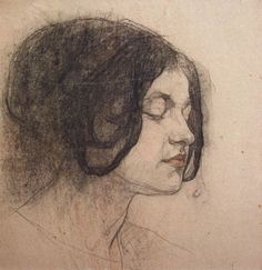 Nicolai Fechin (1881-1955), Portret van een vrouw (Sidorchenko) (1915)