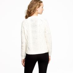 Handknit fisherman cable-knit cardigan F/W 2011 | J.Crew