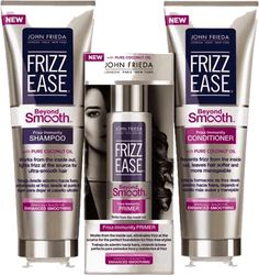 John Frieda Frizz Ease Beyond Smooth this stuff is legit I stayed frizz free for several days