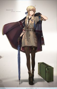 Tagged with anime, fate, saber; Shared by Detective Arturia Fate Zero, Manga Girl, Anime Angel Girl, Anime Girls, Character Art, Character Design, Fan Art Anime, Arturia Pendragon, Fate Stay Night Anime
