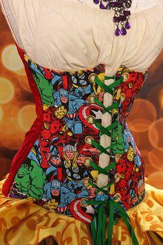 Garotas Nerds » Marvel – Corset com Estampa de Heróis