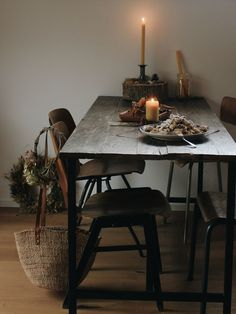 In the Kitchen with Esther Meinel-Zottl - Cloistered Away Slow Living, Decoration Table, Decorations, Home And Deco, Simple House, Wabi Sabi, Interiores Design, Home Decor Inspiration, Dining Table