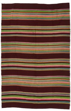 Anonymous; Wool and Cotton Bedspread, 1930s.