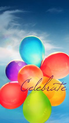 #Celebrate!! with #colorful #balloons! Get it for your #iPhoneRetinaWallpaper, #iPhoneWallpaper Find out more galleries at http://iphone5retinawallpaper.com/index.php