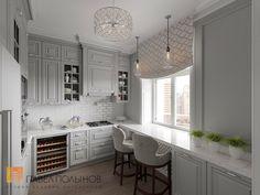 Фото интерьер кухни из проекта «Интерьер двухкомнатной квартиры в стиле американской классики, 68 кв.м.»