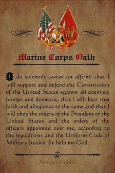 Marine Corp Oath
