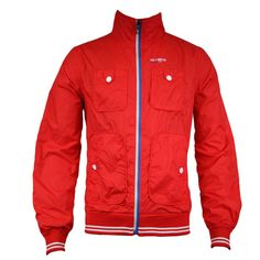 Jack & Jones George Mens Jacket in Fiery Red - official sponsors of the Danish 2012 Olympic team.  Visit www.hypedirect.com