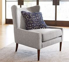Love this chair. For Family Room? Dayton Upholstered Armchair #potterybarn