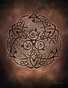 Enchanting Equine Celtic Horse Triskele Knotwork by BrightArrow