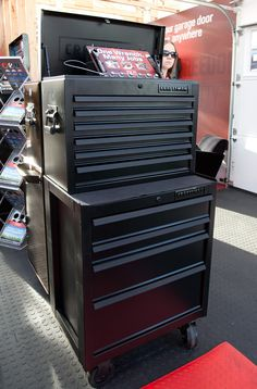 Matte black tool cabinet. How fucking cool. This is factory black, as well. Not a repaint.