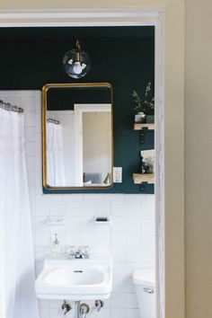 Chic Teal Contemporary Master Bathroom