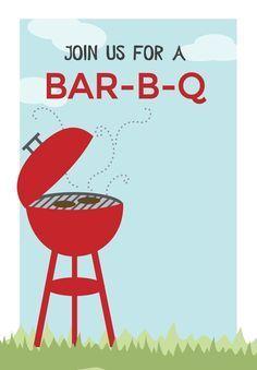 Barbecue Flyer Template | Flyer, Einladung ideen, Einladungen