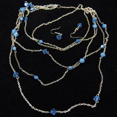 Blue and silver necklace.