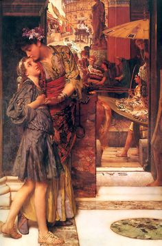 Sir Lawrence Alma-Tadema (Sir Lawrence Alma Tadema), The Parting Kiss (Rome)