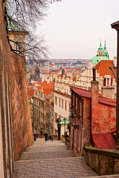 On the top of the stairs (by Tambako The Jaguar). Prague, Czech Republic.