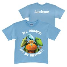 Dinosaur Train Personalized Shirt! Adorable for a Dinosaur Train party!
