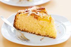 Nectarine & coconut cake