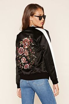 Floral Embroidered Bomber Jacket from Forever 21 R329,00