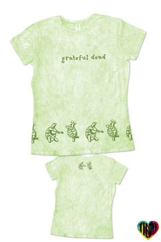 Ladies Tie Dye T-Shirt   Grateful Dead Dancing Turtles Tie Dye T-Shirt Organic Sea Ink Printing