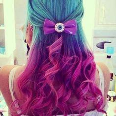 Alternative Fashion // Colored Hair // Blue / Purple / Pink // Pastel Goth