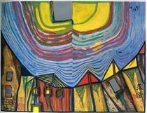 With a Friedensreich Hundertwasser paintings 675 Kingdom of the Toro - Sale fine paintings here. Friedensreich Hundertwasser, Hundertwasser Art, Rms Queen Elizabeth, Norman Rockwell, Mondrian, Art Fantaisiste, Art Ancien, Art File, Aboriginal Art