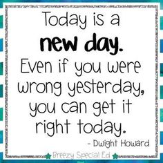 Love this reminder to start each day new! #breezyspecialedquotes