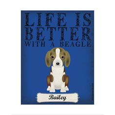 Life Is Always Better With a Beagle - A Personal Creations Exclusive! It's often said that life is better with a dog and we couldn't agree more! @dogsincorp donates 5% of the proceeds from the sale of this product directly to animal rescue efforts worldwide. #beagle #dogs
